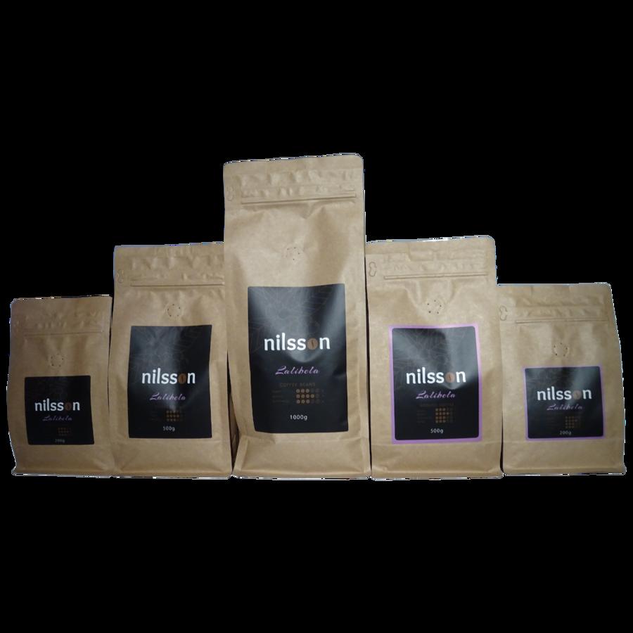 Lalibela* / Nilsson/ Pupiņas vai malta kafija, cena EUR par 1 kilogramu, no