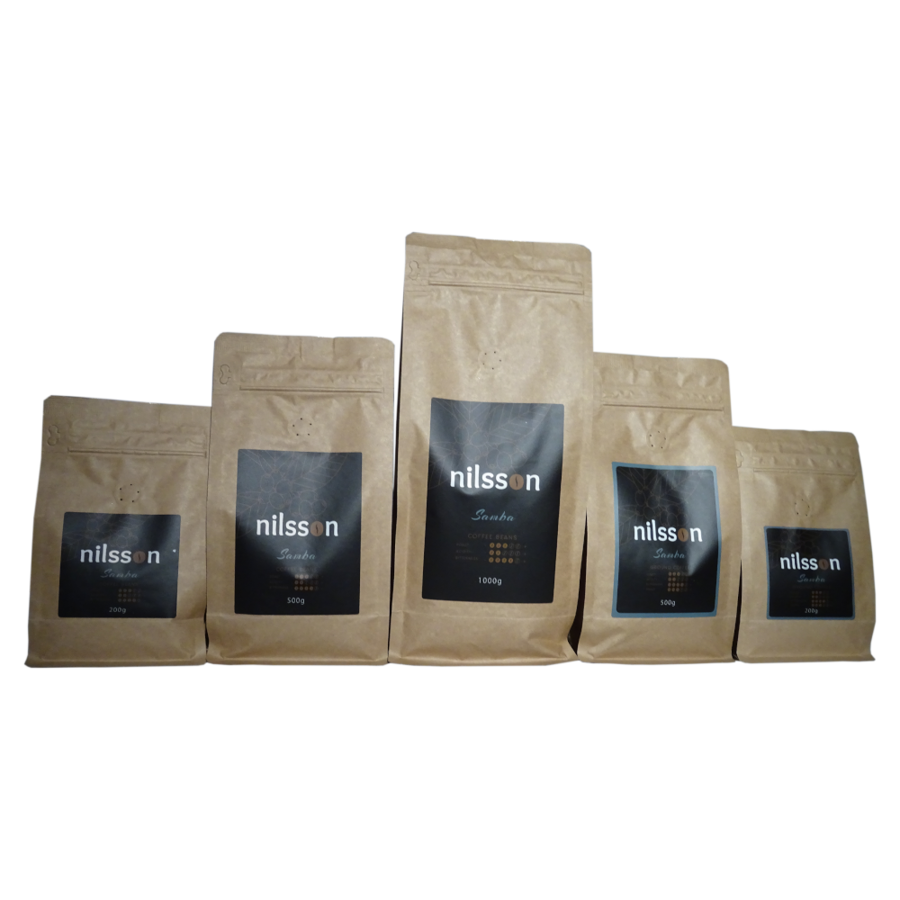 Samba* / Nilsson/ Pupiņas vai malta kafija, cena EUR par 1 kilogramu, no
