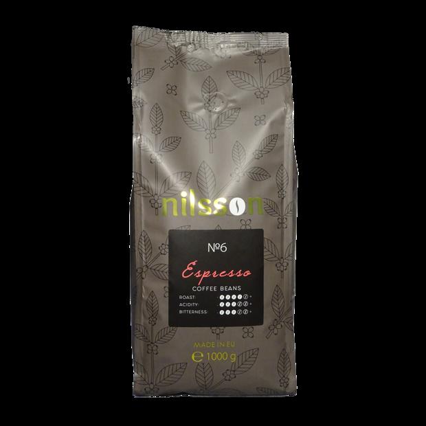 ЭСПРЕССО / Espresso / Серия супермаркетов Nilsson / Кофе в зернах 1000 г